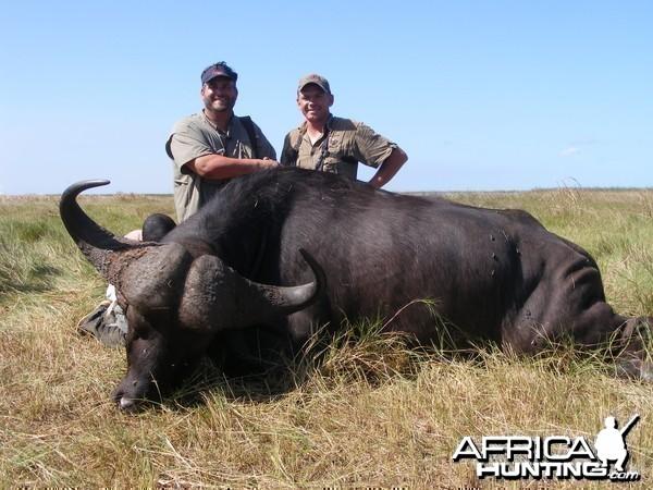 john wilson with mozambique zambezi delta buffalo ,2010