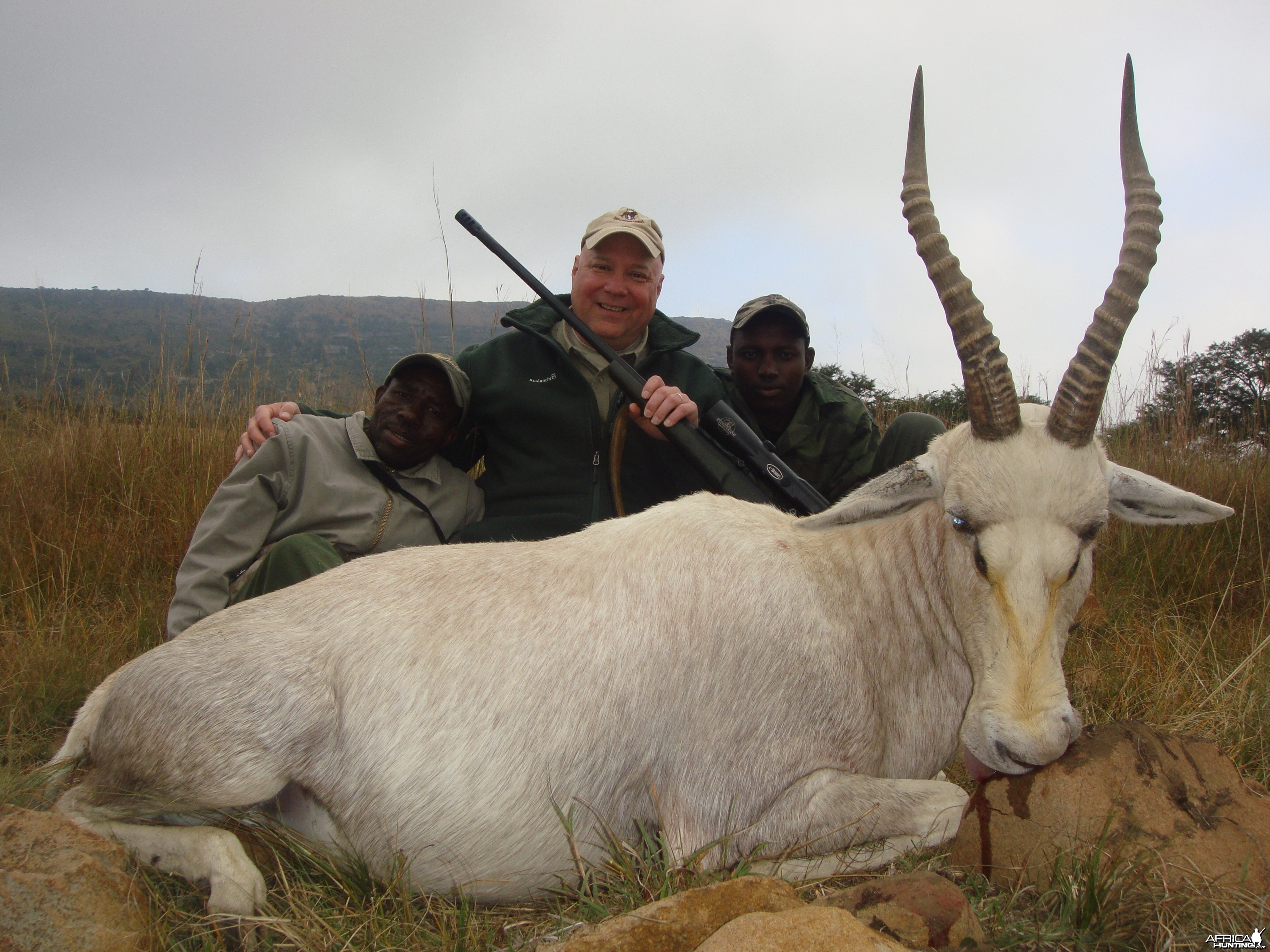 Willie and Biggie with the Blesbok