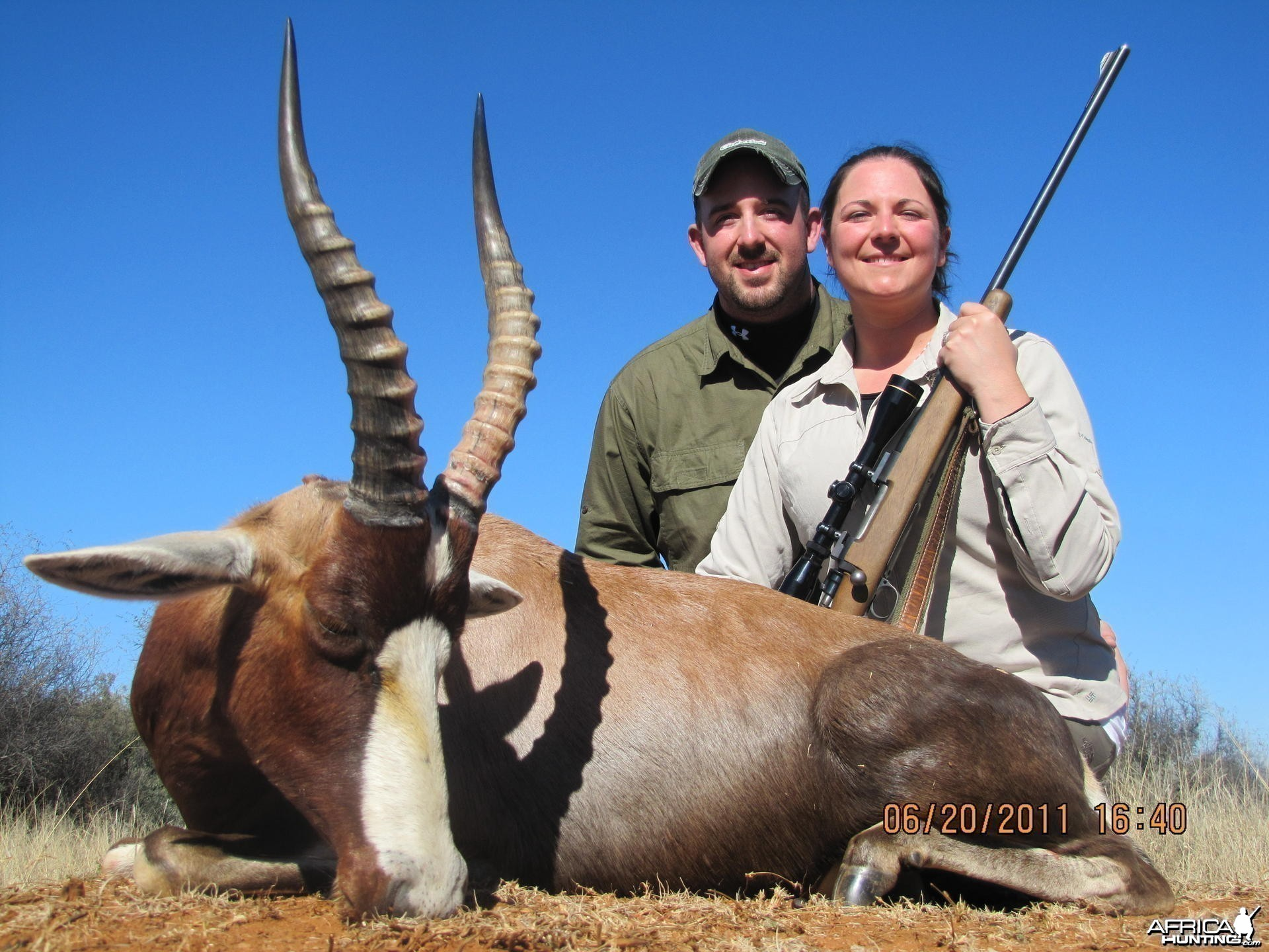 Blesbok hunted with Hartzview Safaris SA
