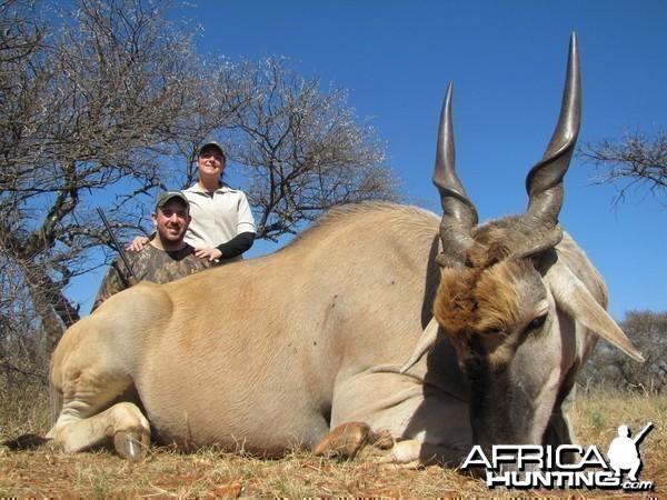 Eland hunted with Hartzview Safaris SA