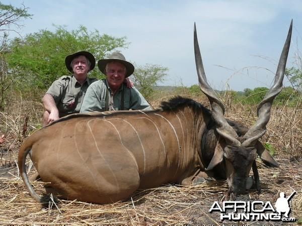 52 inch Lord Derby eland hunted in CAR with PH Rudy Lubin
