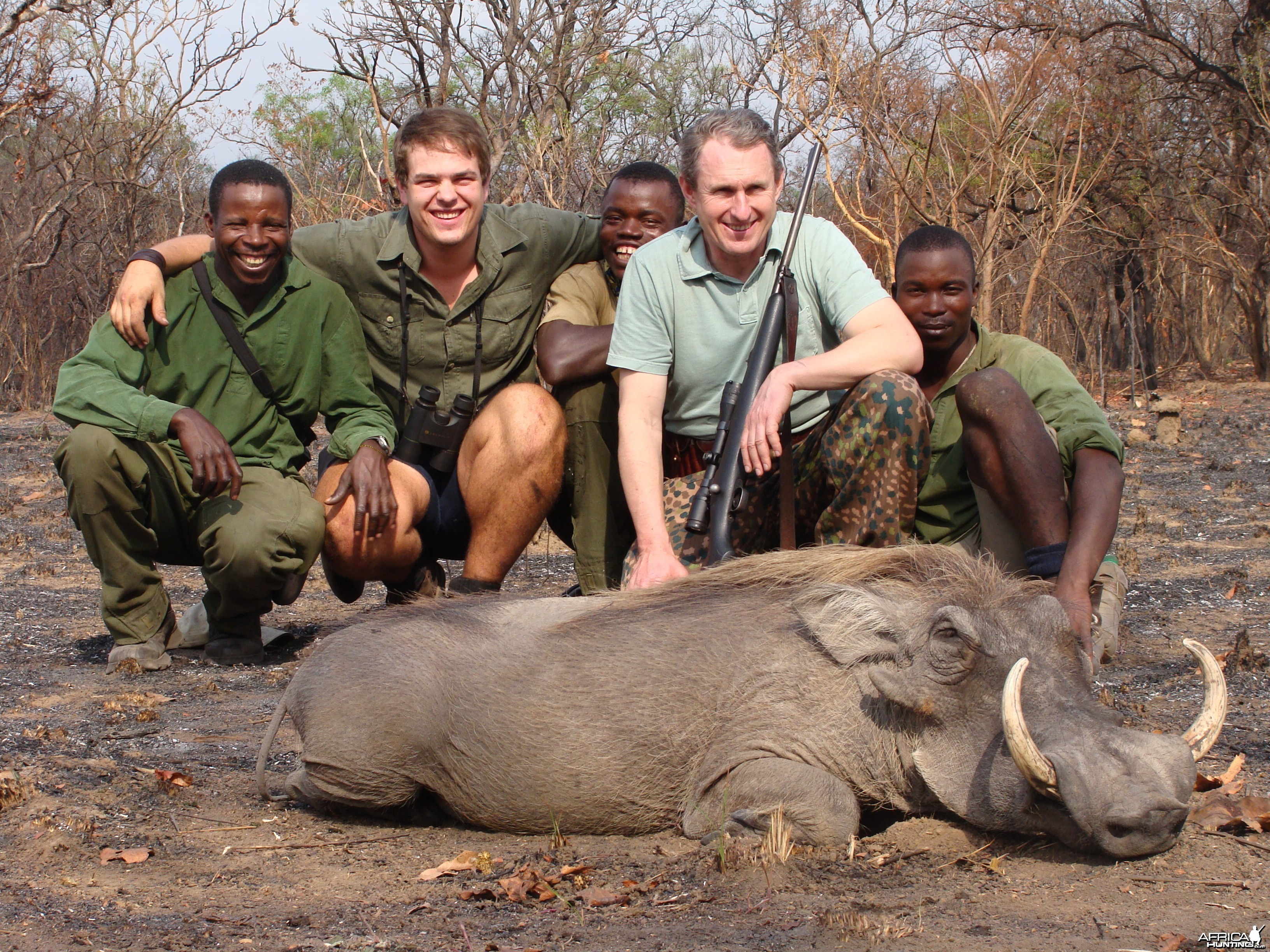 13 inch Warthog hunted in CAR with Central African Wildlife Adventures