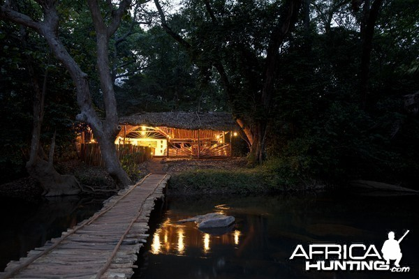Main camp in CAR with Central African Wildlife Adventures