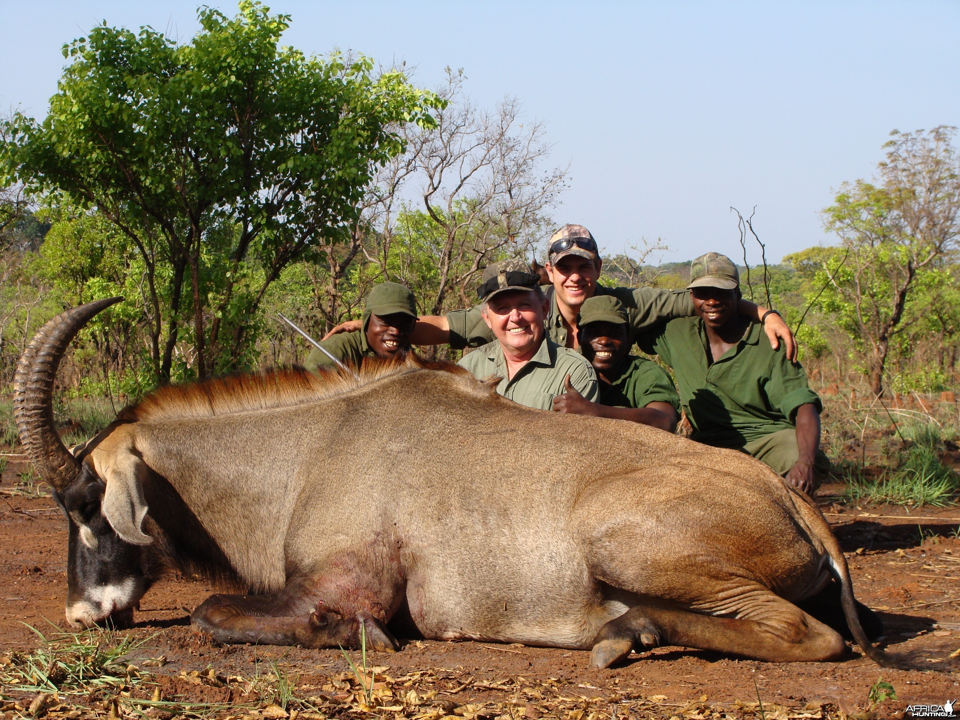 Very old 26 inch Roan hunted in CAR with Central African Wildlife Adventure