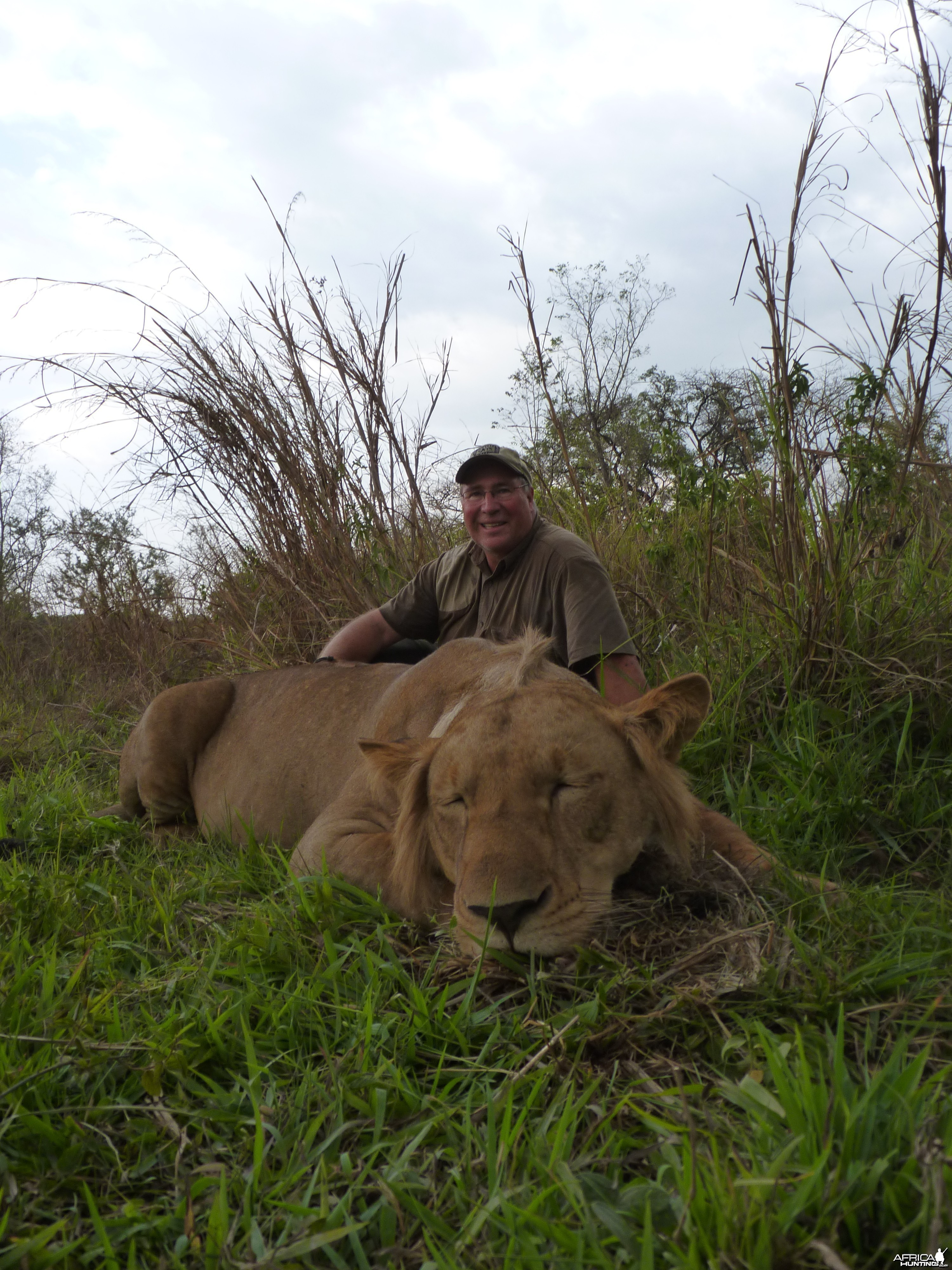 Lion hunted in Central African Republic with CAWA