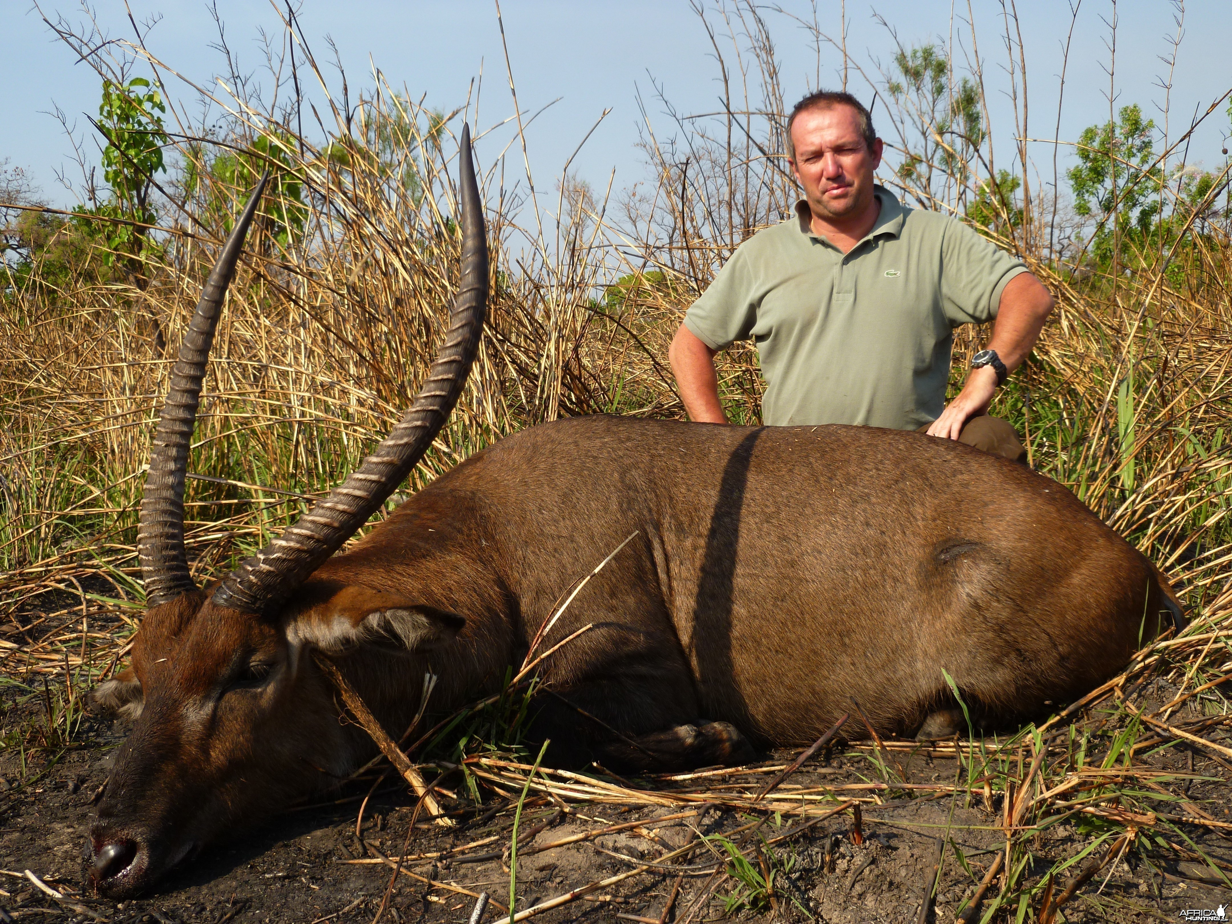 Waterbuck hunted in Central African Republic with CAWA