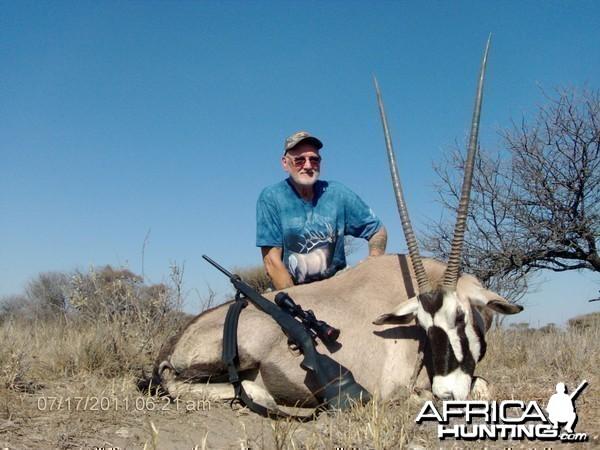 Gemsbok hunted with Cruiser Safaris