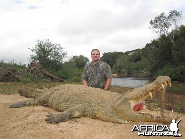 Crococdile Hunt in Save Valley Conservancy Zimbabwe