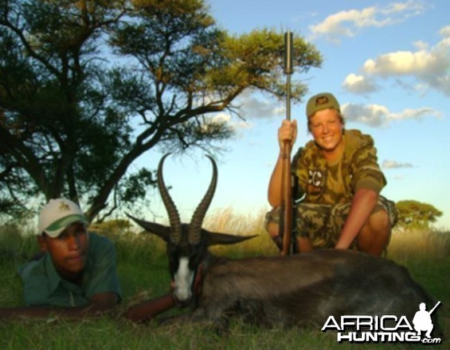 Hunting Black Springbok with Wintershoek Johnny Vivier Safaris in SA