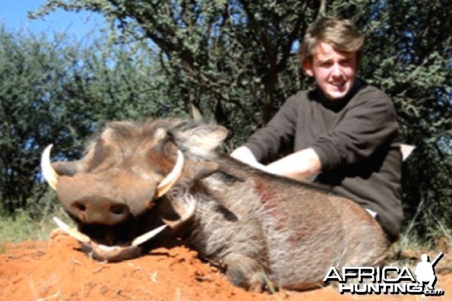 Hunting Warthog with Wintershoek Johnny Vivier Safaris in SA