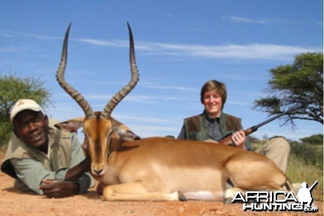 Hunting Impala with Wintershoek Johnny Vivier Safaris in SA