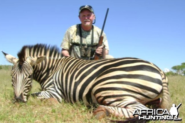 Hunting Zebra with Wintershoek Johnny Vivier Safaris in SA