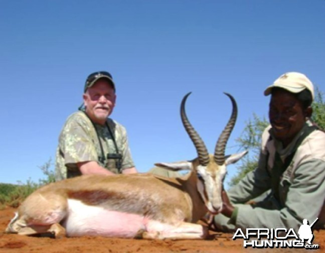 Hunting Springbok with Wintershoek Johnny Vivier Safaris in SA