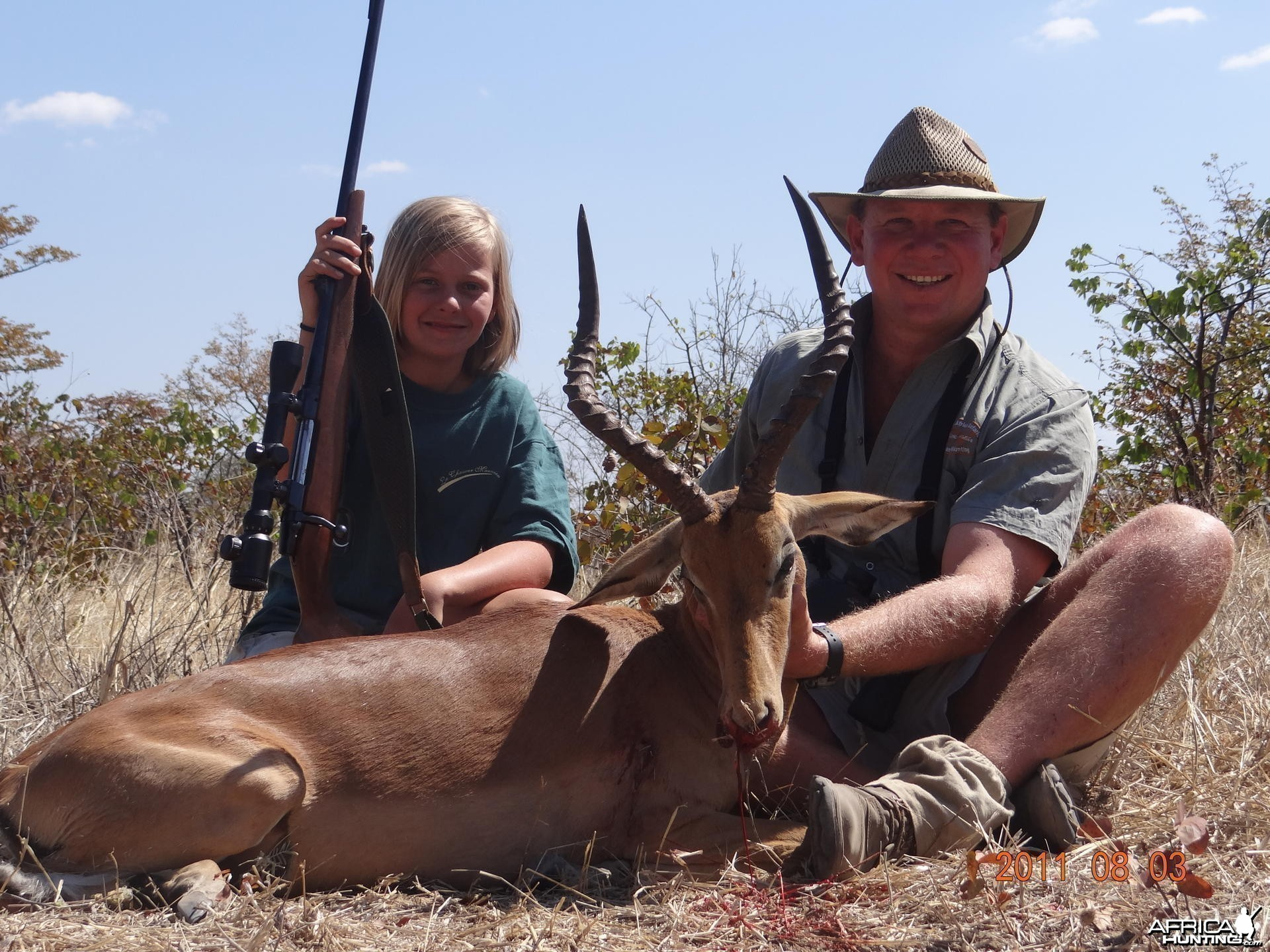 My daughter one nice Impala hunted in Zimbabwe