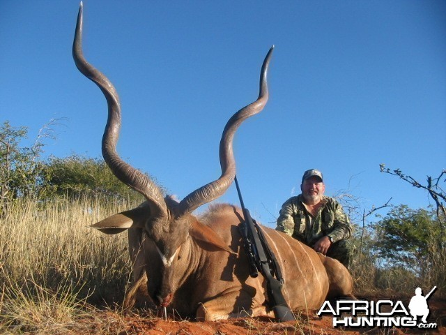 Trophy Kudu harvested with Kowas Hunting Safaris