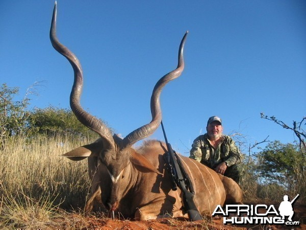 Trophy Kudu harvested with Kowas Hunting Safaris