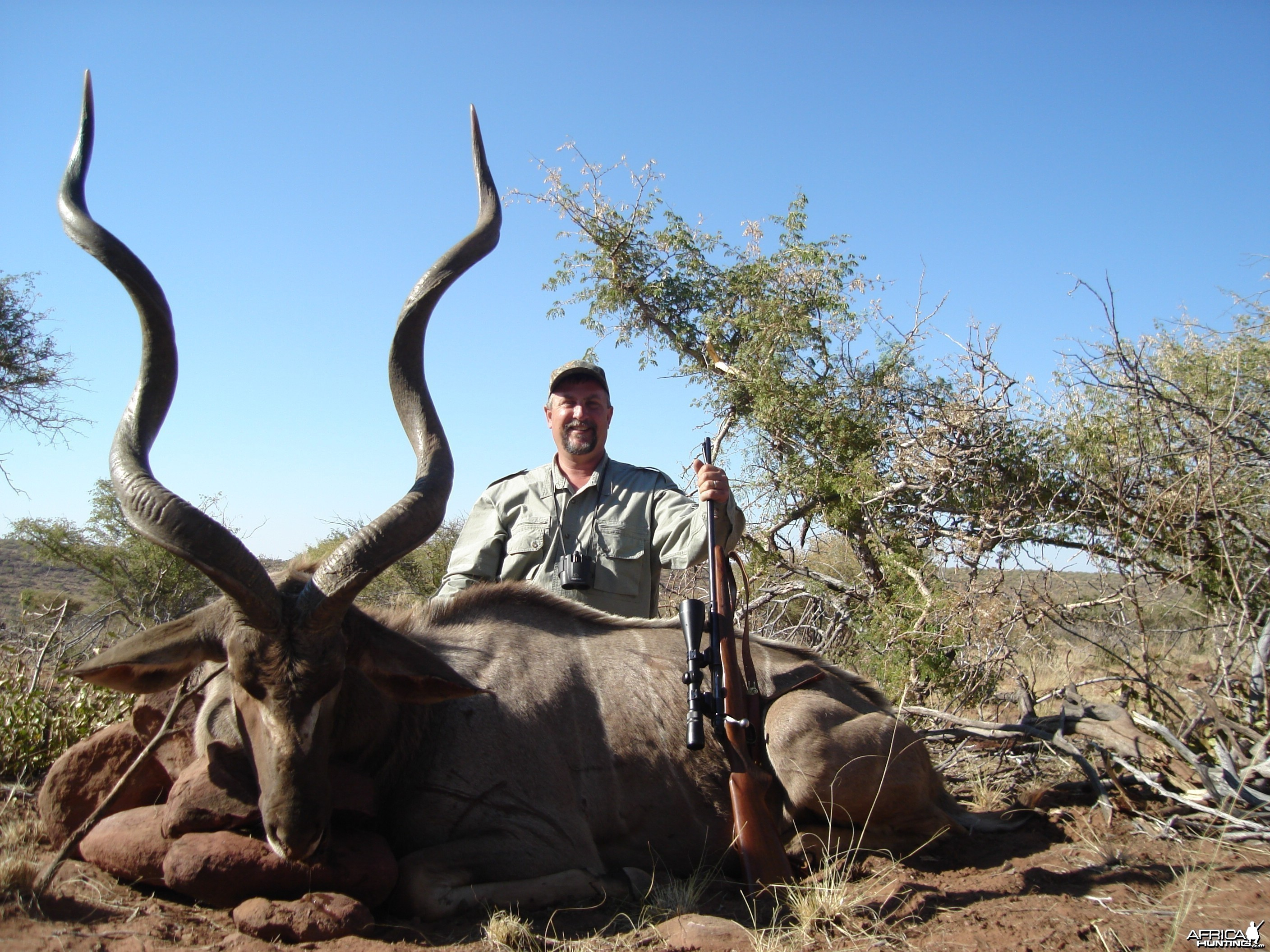 Kudu harvested with Kowas Hunting Safaris