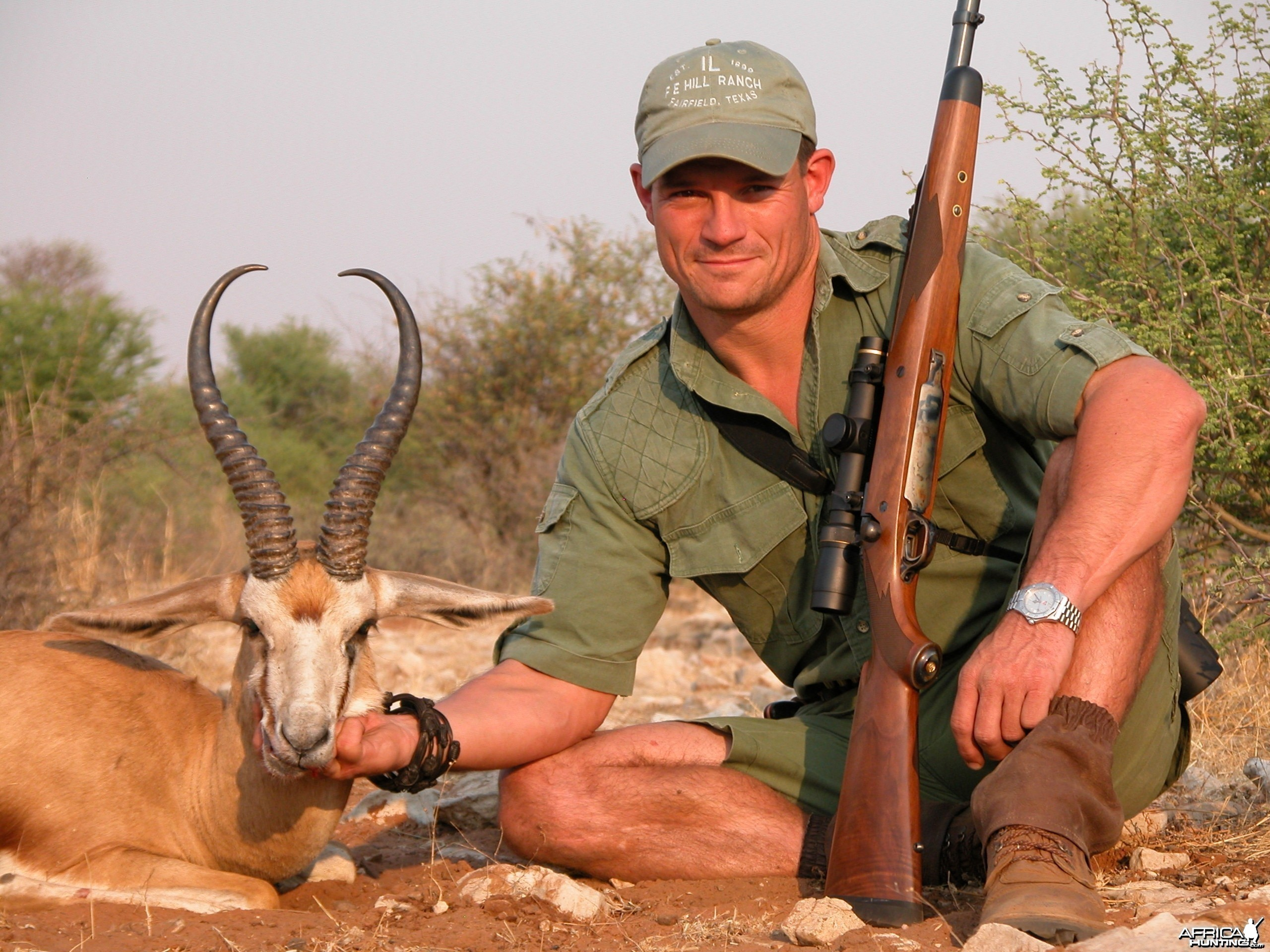 Springbuck harvested with Kowas Hunting Safaris
