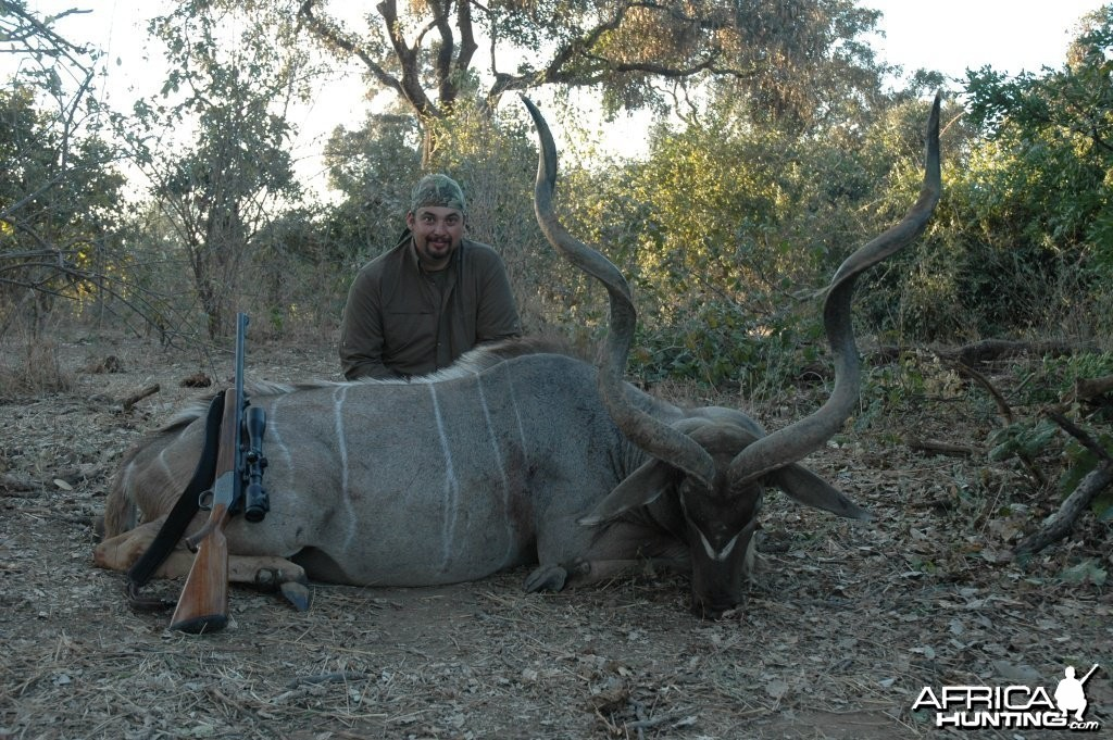 55 inch Kudu hunted in Zimbabwe
