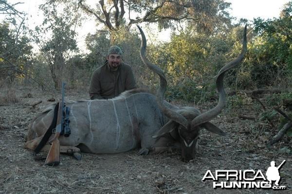 55 inch Kudu hunted in Zimbabwe