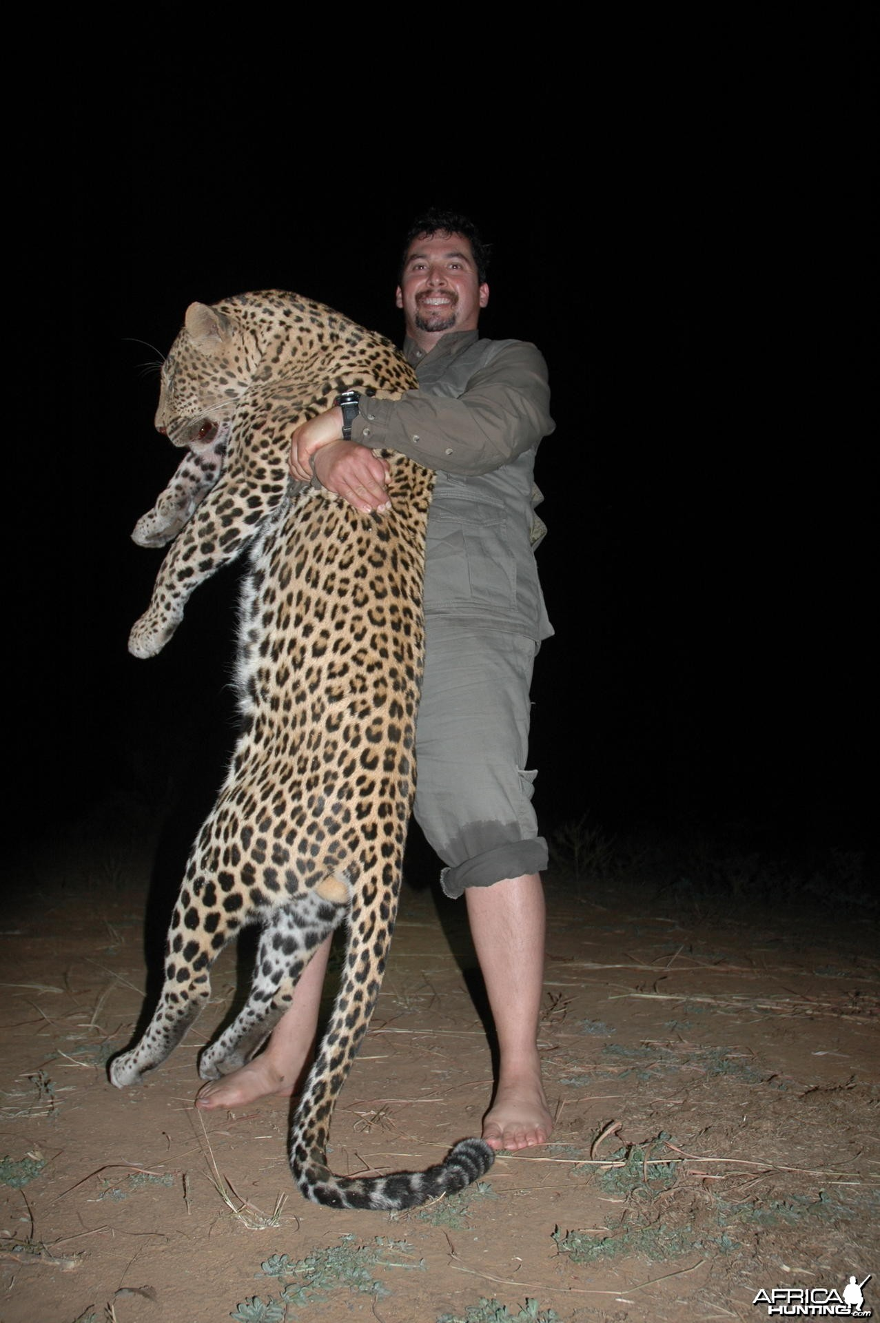 15 inch Leopard hunted in Zimbabwe