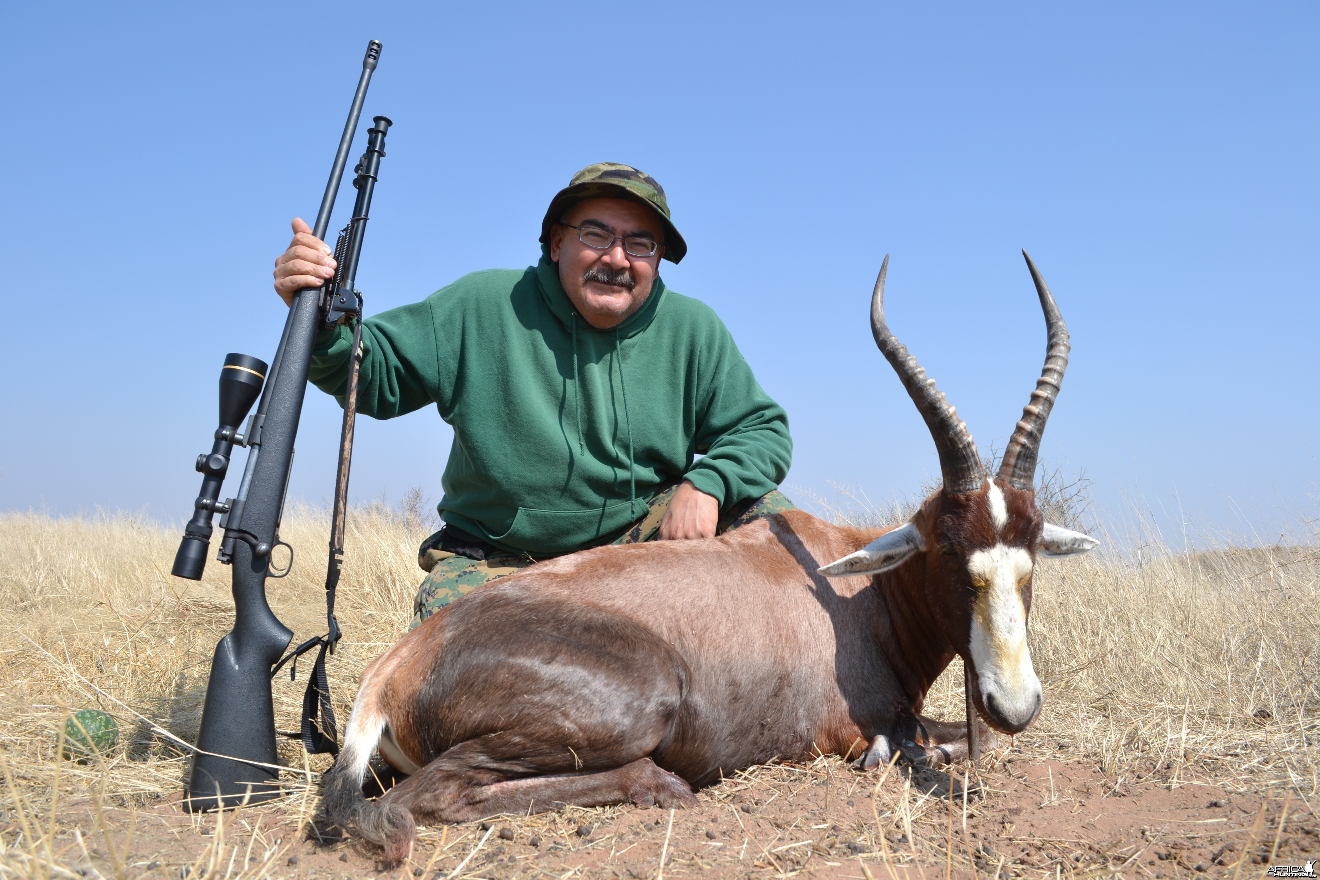 Blesbuck trophy with Kowas Hunting Safaris