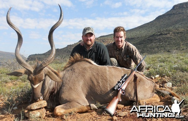 Cape Kudu with my PH Lance Charles with Russ Field Safaris