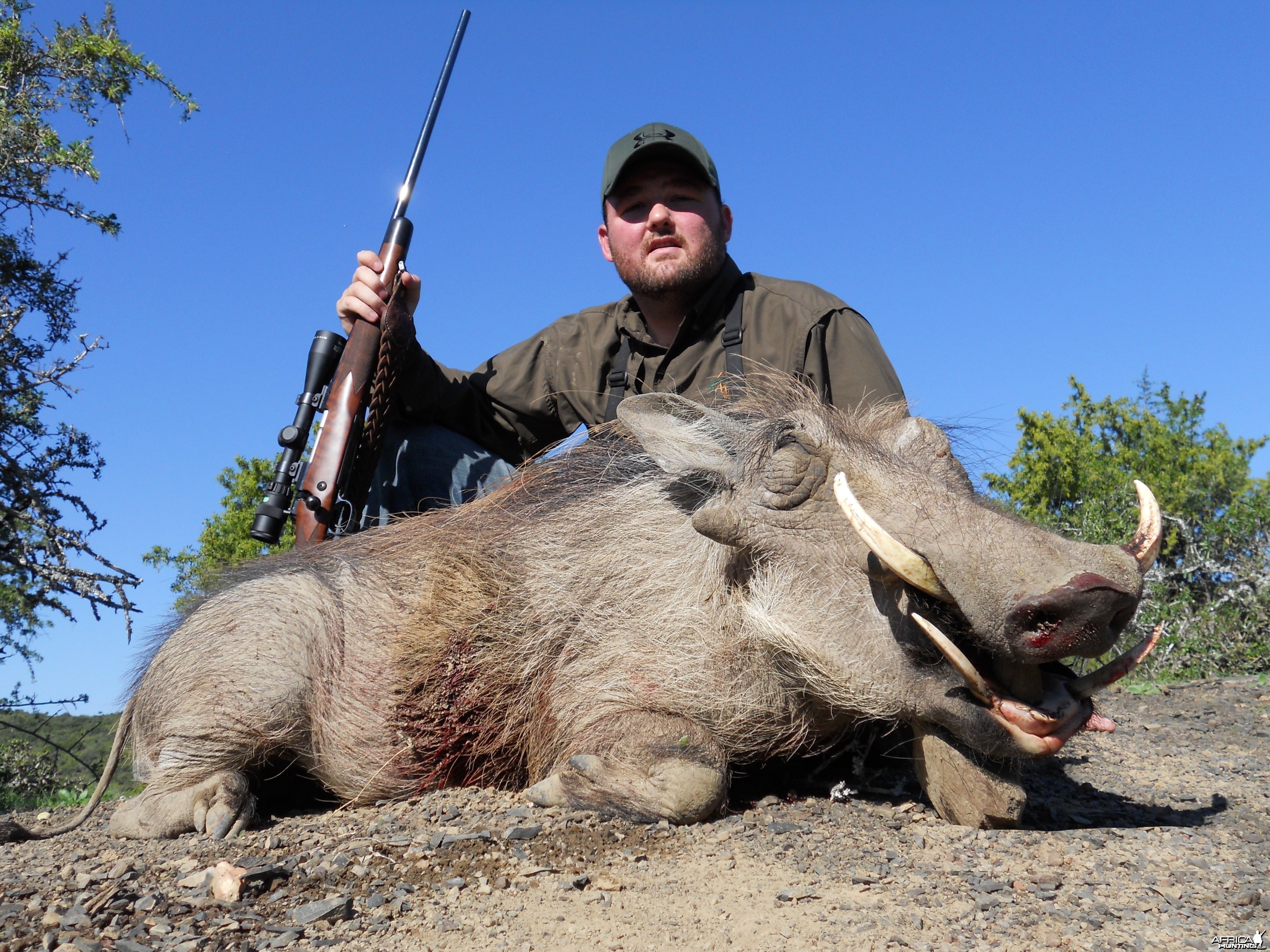 Warthog with my PH Lance Charles with Russ Field Safaris