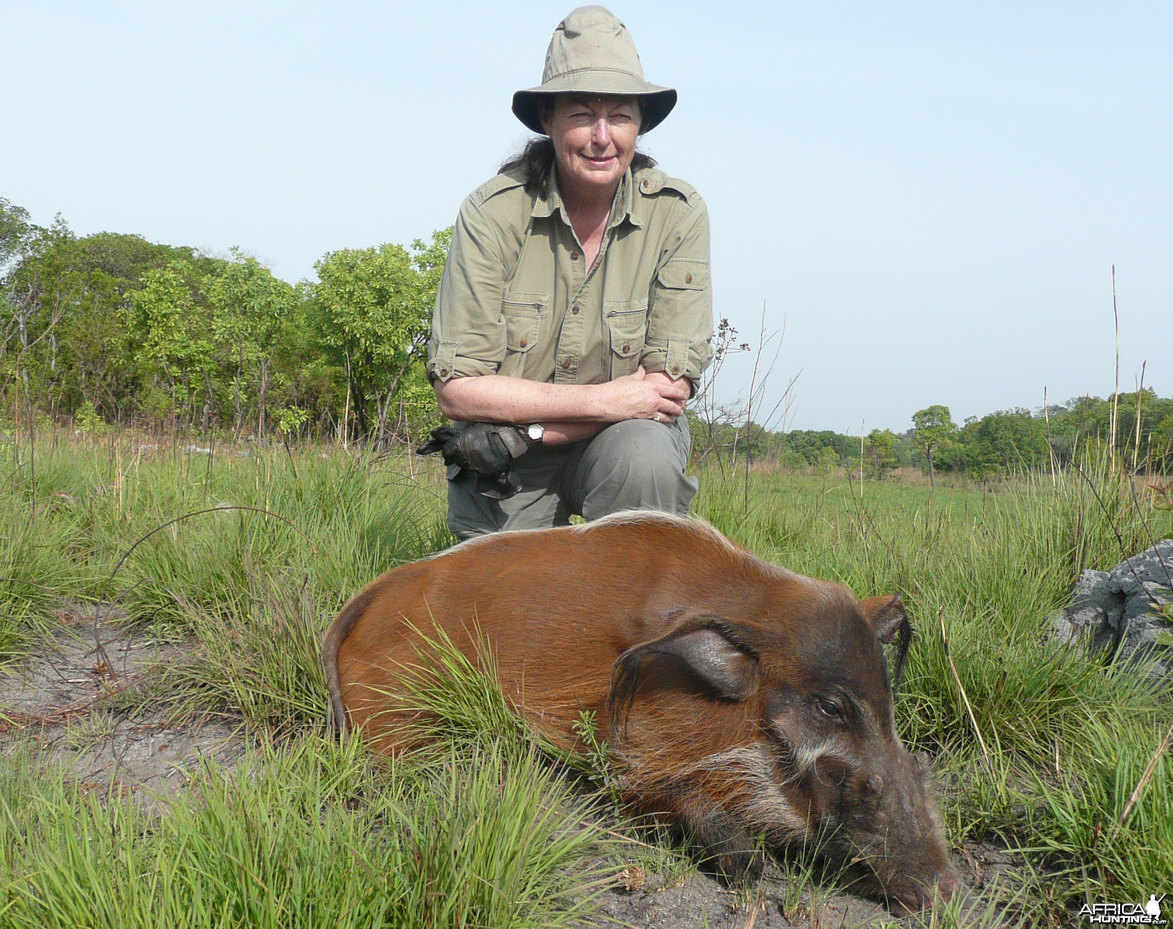 Hunting Red River Hog in CAR with Rudy Lubin Safaris
