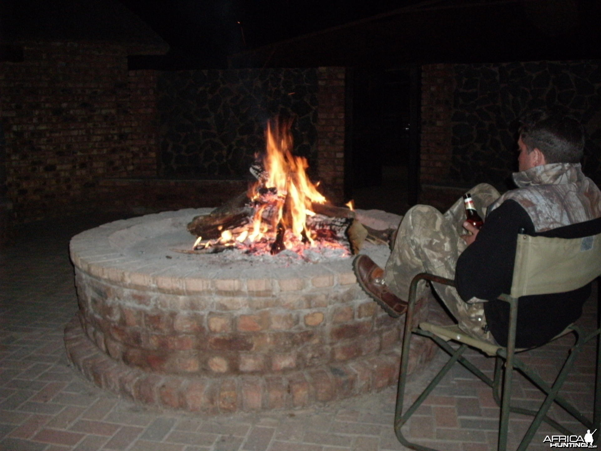 Fire pit at HartzView Hunting Safaris