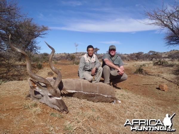My kudu with PH Ivan and tracker Richard