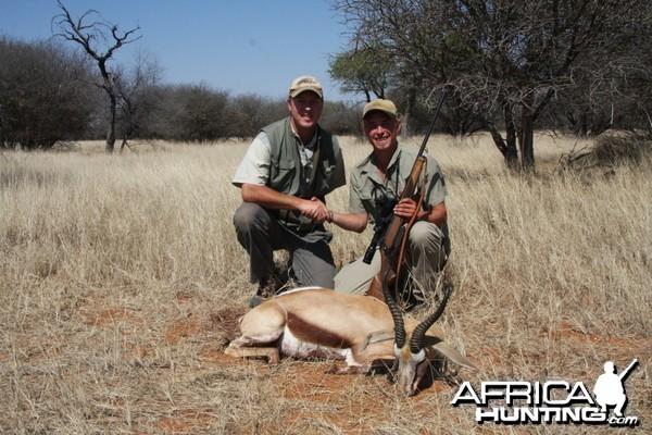 Springbok hunted in Namibia