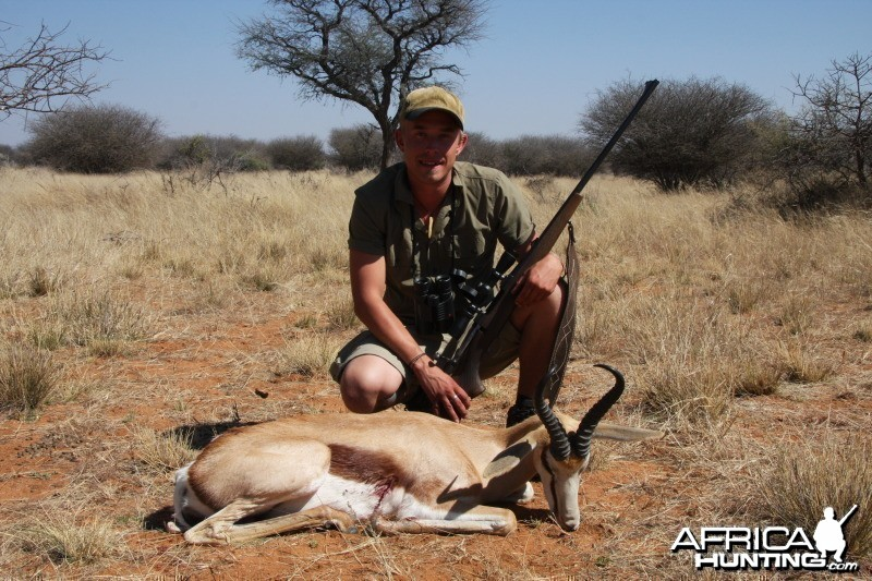Springbok hunted in Namibia