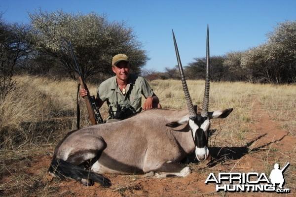 Gemsbok hunted in Namibia