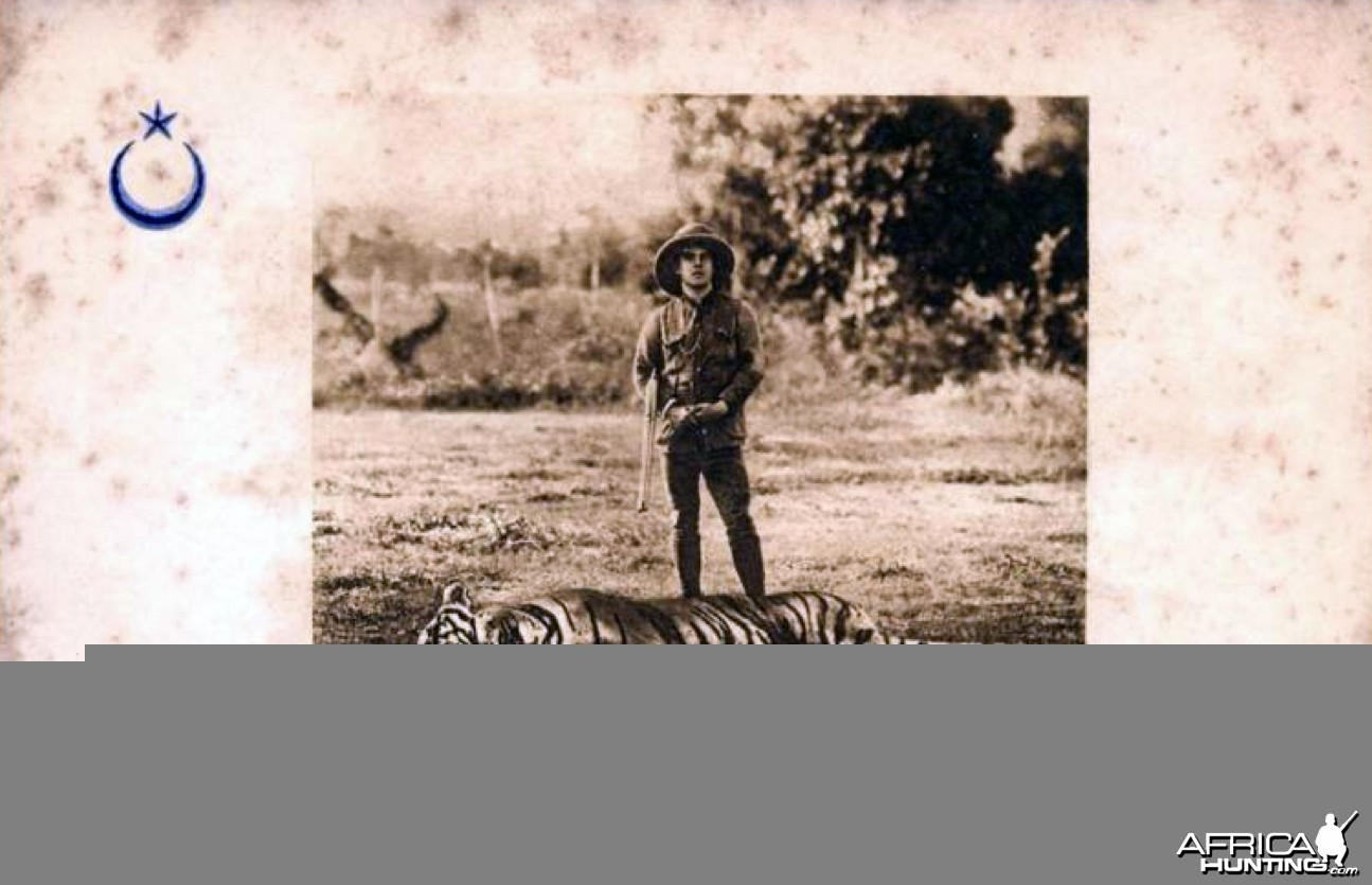 Sultan Ibrahim of Johore Hunting Tiger Malaysia ca 1899