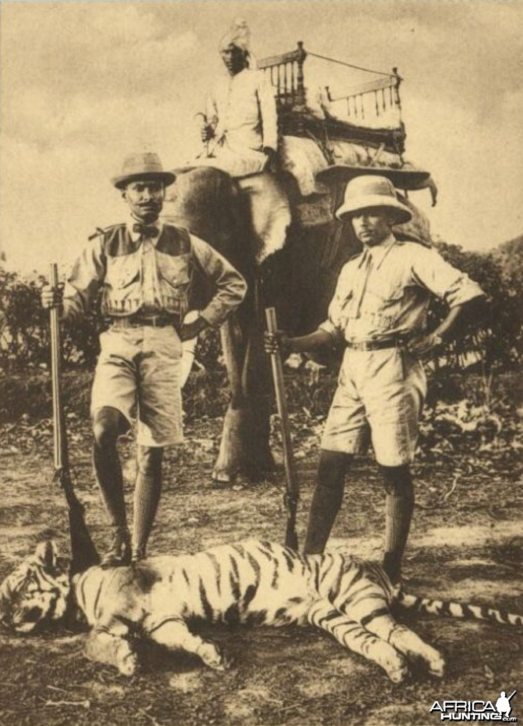Hunters with Tiger ca 1930