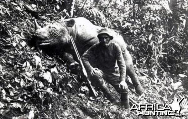 Hunting Rhino in Malaysia ca1920