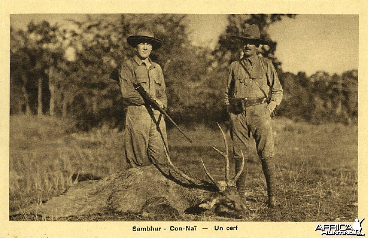 Hunting Deer in Vietnam ca 1920