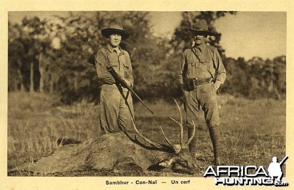Hunting Deer in Vietnam ca 1920