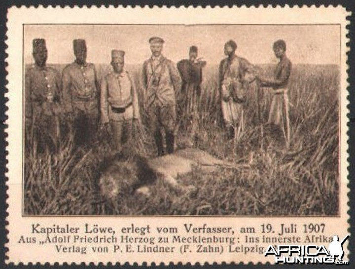 Hunting Lion in ca 1907