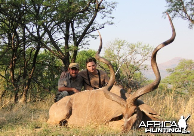 63 AND 6/8 inch kudu taken with Savanna hunting safaris.UDU