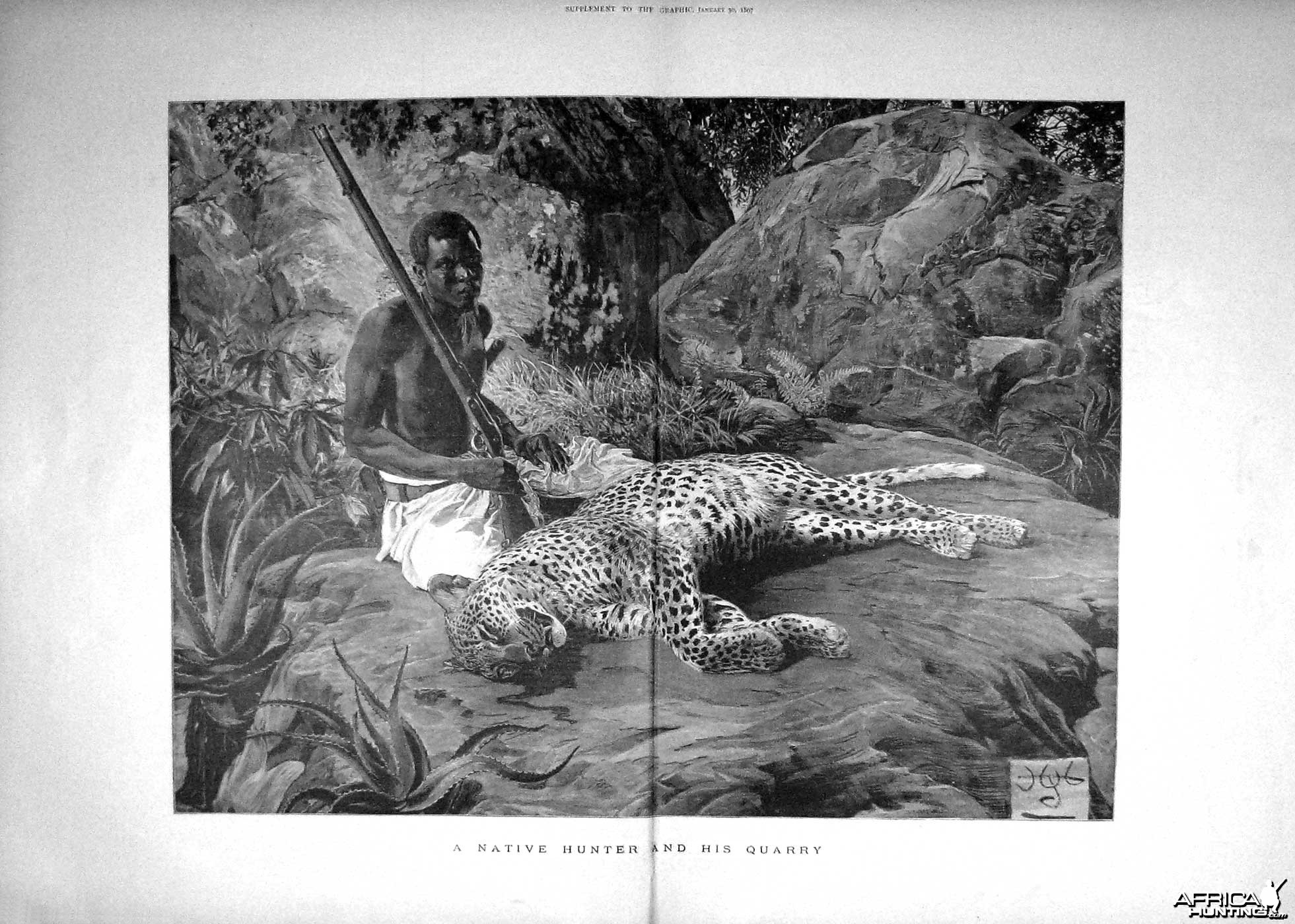 A native hunter and his query - Leopard
