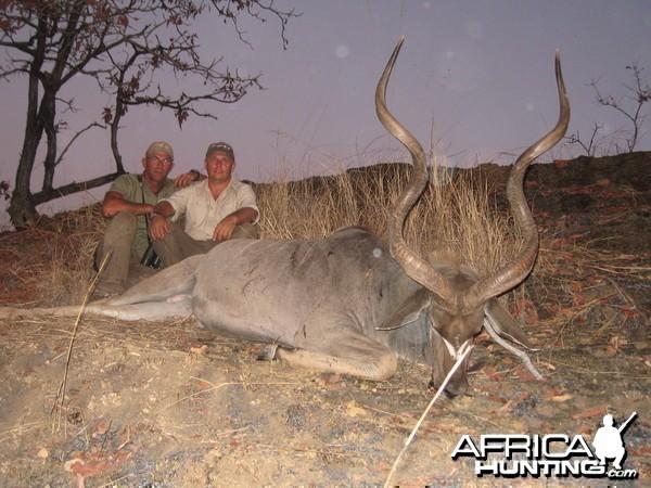 Big 55 inch East African Kudu from Selous Tanzania