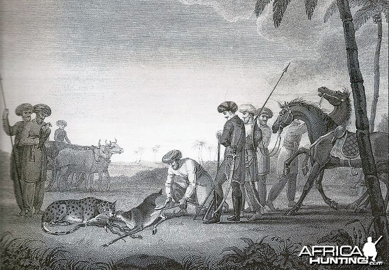 Hunting Blackbuck with Cheetah ca. 1812