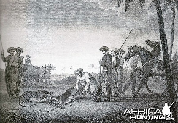 Hunting Blackbuck with Cheetah ca. 1812