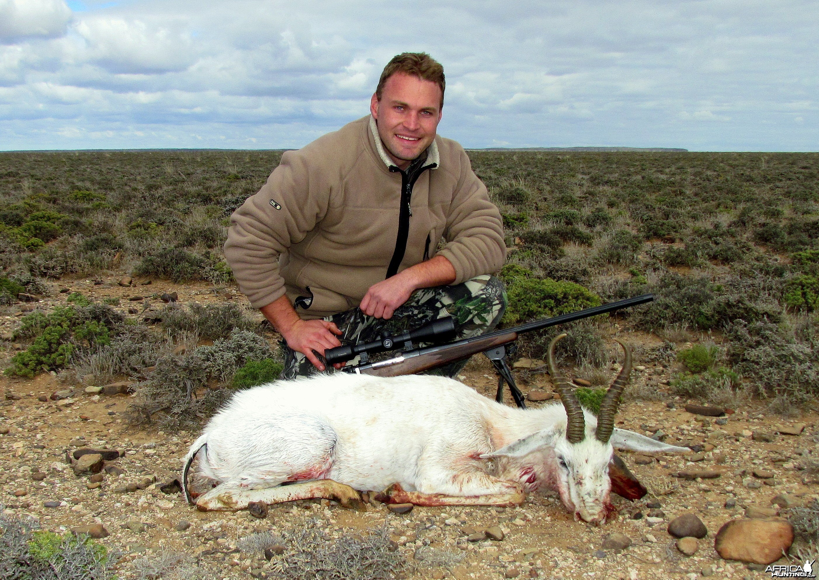 "12"" White Springbuck taken near Beaufort West, South Africa"