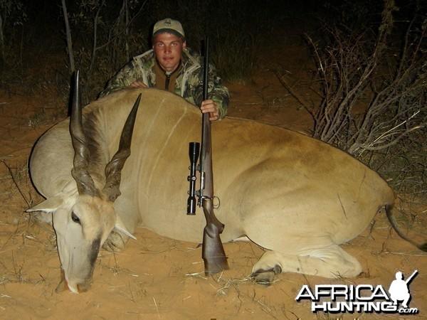 "35"" Livingstone Eland taken near Grootfontein, Namibia"