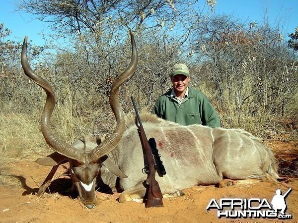 """53"""" Southern Greater Kudu taken near Grootfontein, Namibia"""