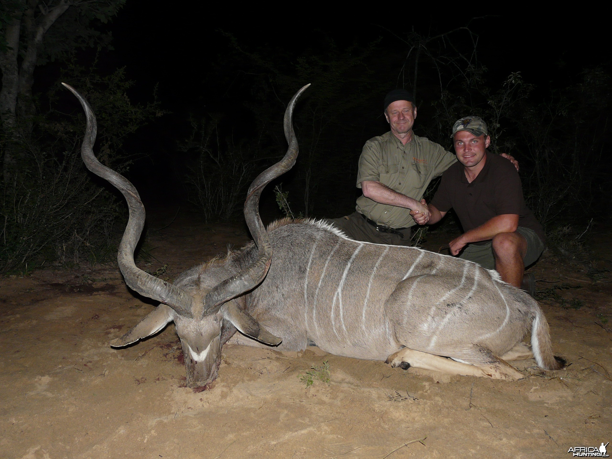 "59 1/2"" Kudu taken by client from Finland, near Grootfontein, Namibia"