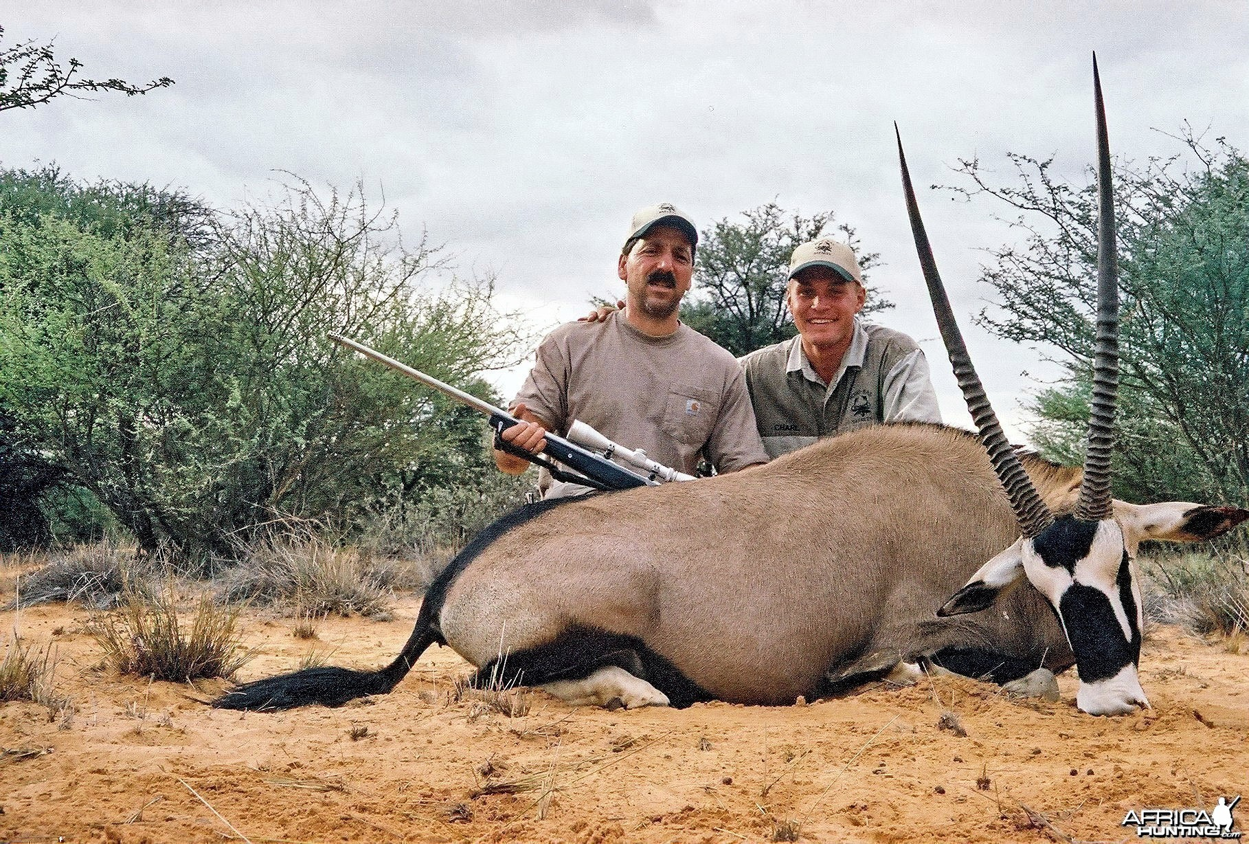 "40 1/2"" Gemsbuck taken in the Kalahari, Hotazel, with PH Charl Kemp"